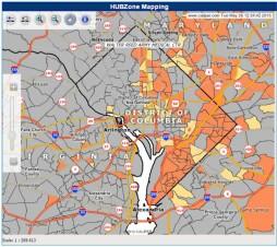 D.C. Hubzone map
